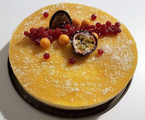 Entremet mangue/fruits de la passion